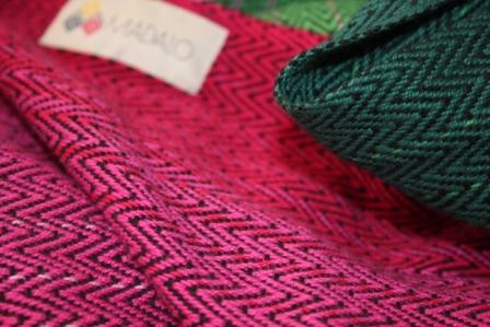 Pink und grün, eine tolle Kombination im Tuch