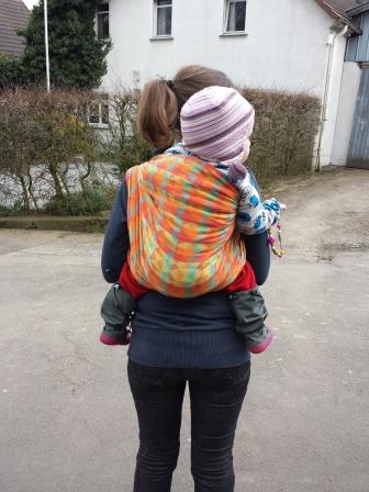 Tragen im einfachen Rucksack