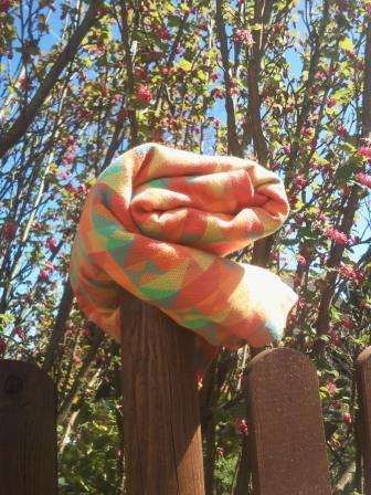 Das Tuch mal im Sonnenlicht